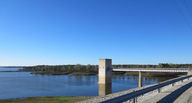 Crossing Salamonie Dam