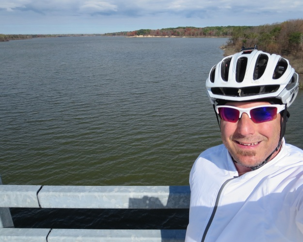 Lake Mississinewa, created by the dam.  Yep, it was still pretty chilly when I got here.